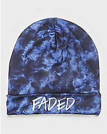 Tie Dye Faded Beanie Hat