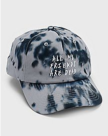 Tie Dye All My Friends Are Dead Dad Hat
