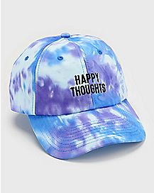 Tie Dye Happy Thoughts Dad Hat