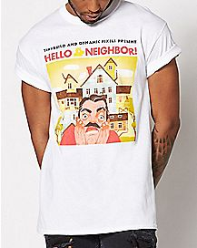 White Hello Neighbor T Shirt