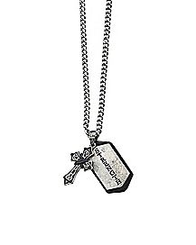 Strength Cross Necklace