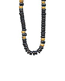 Matte Black Beads Necklace