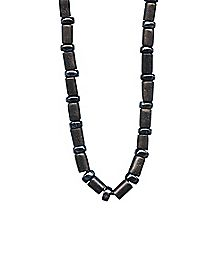 Brown Glass Beaded Necklace