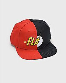Split Logo The Flash Snapback Hat - DC Comics