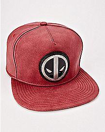 Metal Logo Deadpool Snapback Hat - Marvel