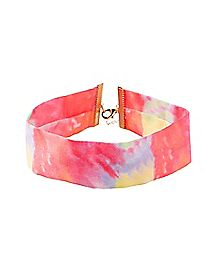 Tie Dye Choker Necklace
