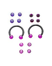 Multi-Pack Horseshoe Rings - 16 Gauge