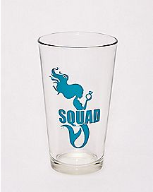 Green Mermaid Squad Pint Glass - 16 oz.
