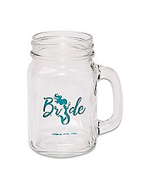Green Mermaid Bride Handled Mason Jar - 16 oz.