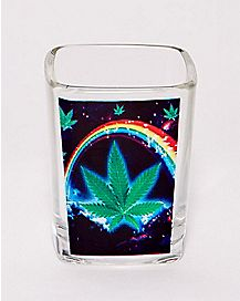 Rainbow Pot Leaf Shot Glass - 2.25 oz.