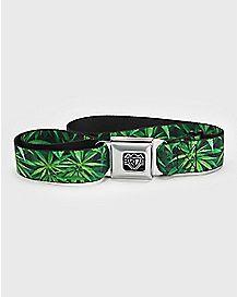 Pot Leaf Seatbelt Belt