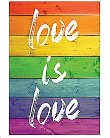 Rainbow Love is Love Poster