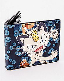 Meowth Clawing Bifold Wallet - Pokemon