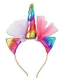 Metallic Rainbow Unicorn Headband