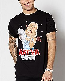 Little Bit Garbage Katya T Shirt - Drag Queen Merch