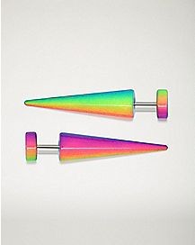 Ombre Rainbow Fake Tapers - 18 Gauge