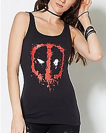 Splatter Deadpool Tank Top - Marvel