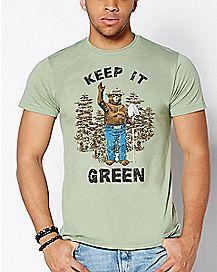 Keep It Green Smokey The Bear T Shirt