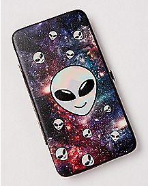 Galaxy Alien Hinge Wallet