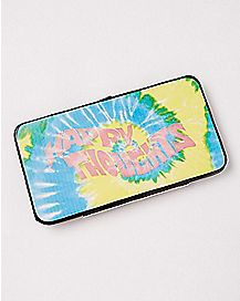 Tie Dye Happy Thoughts Hinge Wallet