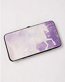 Purple Galaxy Unicorn Hinge Wallet