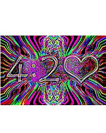 Neon 420 Blacklight Poster