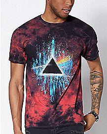 Dark Side Of The Moon Tie Dye Pink Floyd T Shirt