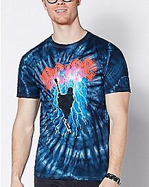 Tie Dye ACDC T Shirt
