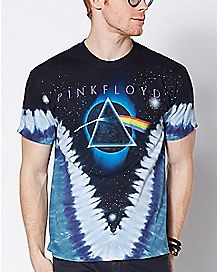 2-Sided Dark Side Of The Moon Tie Dye Pink Floyd T Shirt