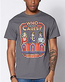 Who Cares T Shirt - Steven Rhodes