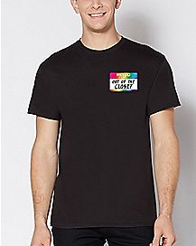 Nametag Hello I Am Out Of The Closet T Shirt