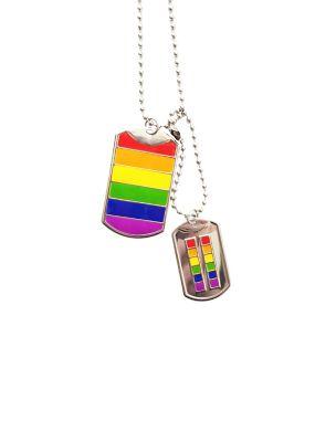 rainbow dog tags