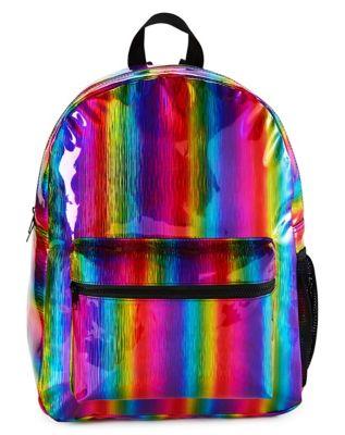 iridescent rainbow backpack
