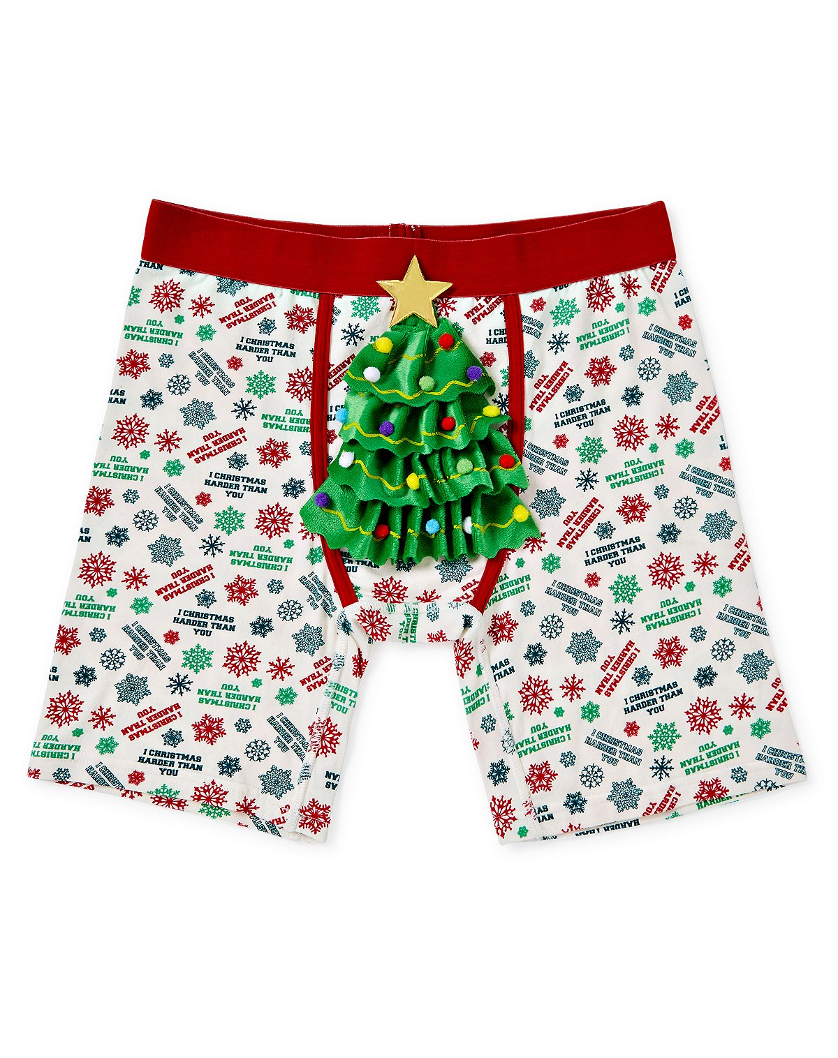 I Christmas Harder than You Boxer Briefs