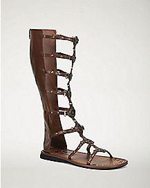 Brown Roman Sandals