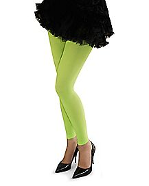 Neon Footless Tights