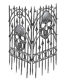 3 ft Silver Skull Fence - Decorations
