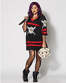adult miss voorhees plus size costume friday the 13th