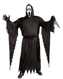 Adult Ghost Face Plus Size Costume - Scream 4