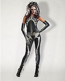Adult Skelee Girl Skeleton Costume