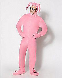 Adult Pink Bunny Pajamas Costume - A Christmas Story