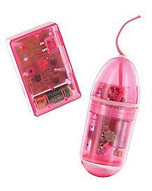 Waterproof Remote Bullet Vibrator - 3.25 Inch Pink