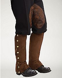 Brown Suede Steampunk Boot Covers