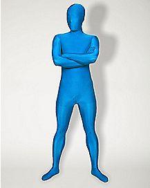 Adult Super Skins® Light Blue Skin Suit Costume