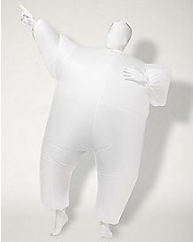 Adult Blimpz White Inflatable Costume