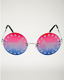 Political Democrat Glasses
