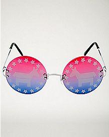 Political Democrat Glasses