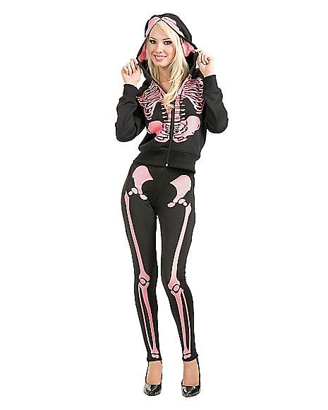 Add some spook to your style with these skeleton leggings. Available in four colors, these leggings are sure to be some of the most comfortable you'll ever wear, with all-way stretch that never sags or turns sheer no matter how you move your bones.