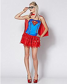 Adult Supergirl Corset and Petticoat Costume - DC Comics