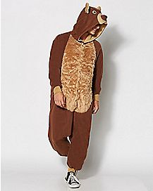 Adult Bear Costume One Piece Pajamas